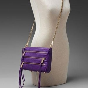 Purple leather Rebecca Minkoff Crossbody MAC 4 zip